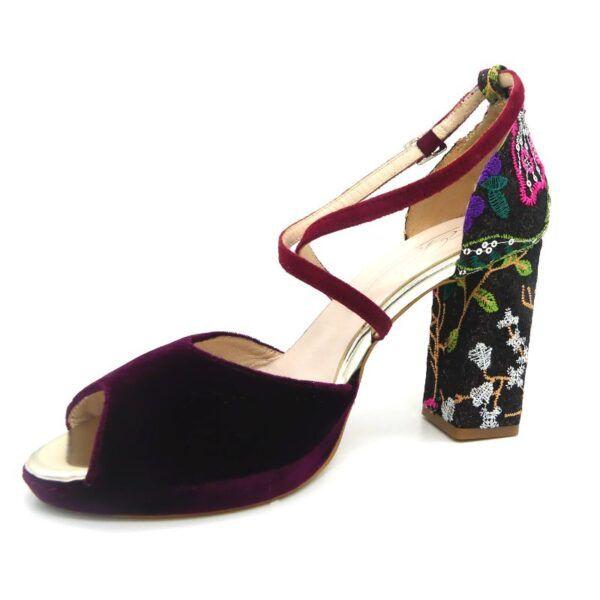 sandalia con glitter