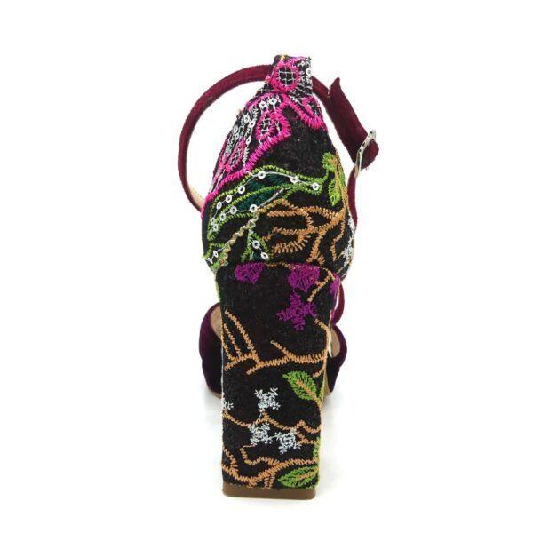 sandalia de novia granate